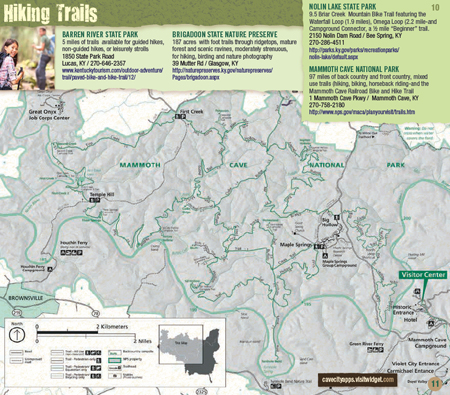 Hiking Trails - Cave City Home of Mammoth Cave National Park on mammoth mountain map, mammoth creek utah map, mammoth condo rental map, mammoth az map,